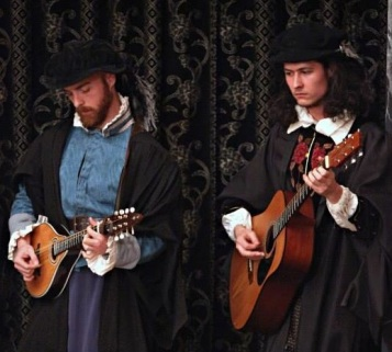 Scott Campbell and Will Campbell in Rogue Shakespeare's Fuente Ovejuna. Dir Beth Burns. Photo by Norm Shafer.